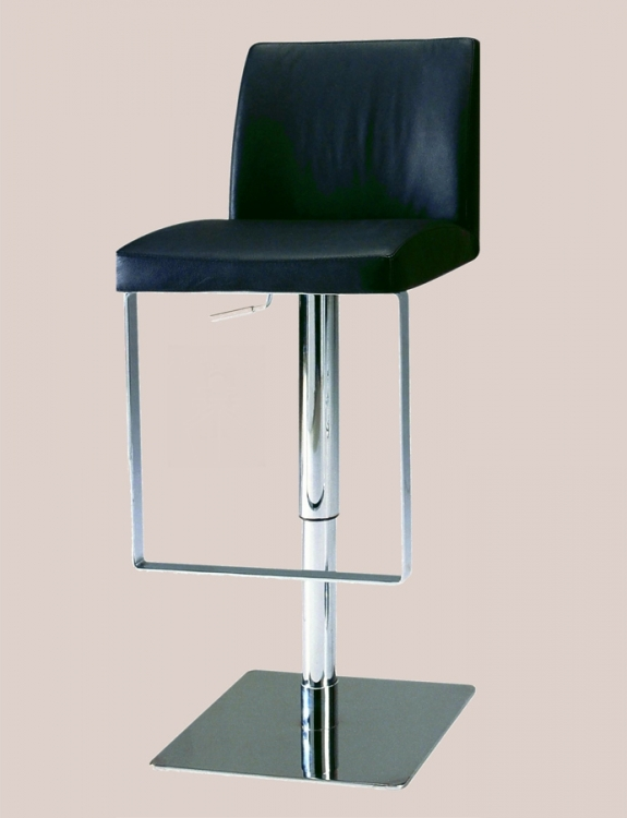 0813 Adjustable Height Swivel Stool - Black - Chintaly Imports