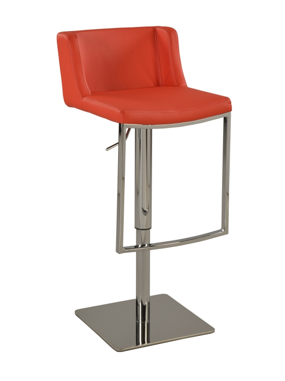 0886 Pneumatic Gas Lift Adjustable Height Stool - Chrome