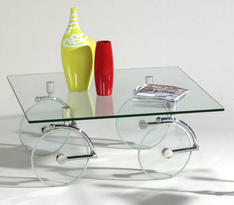 1105 Glass Caster Cocktail Table