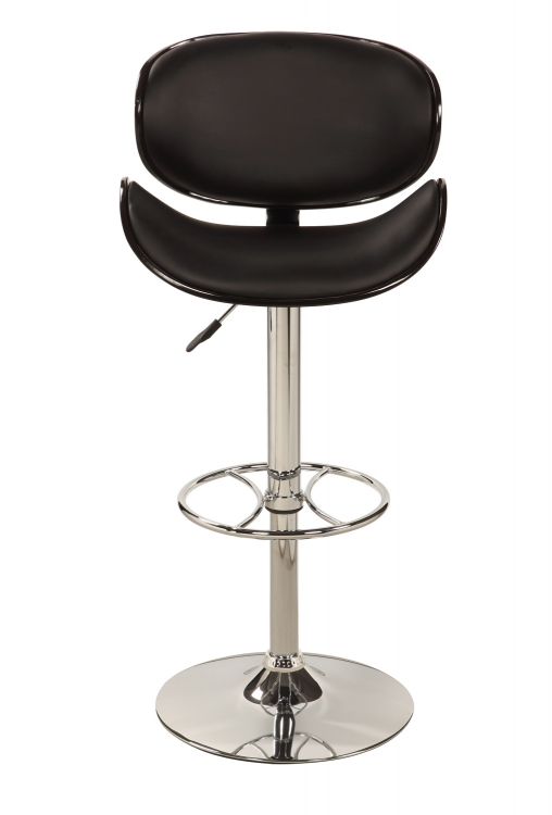 1376 Oversize Pneumatic Gas Lift Swivel Stool - Chrome/ Black