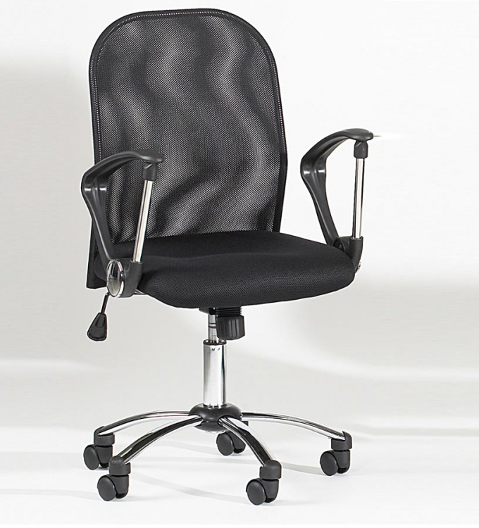 Mesh Back Swivel Tilt Hydraulic Chair - Chintaly Imports