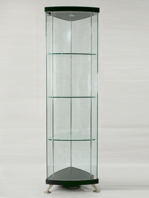 Triangle Glass Curio - Chintaly Imports