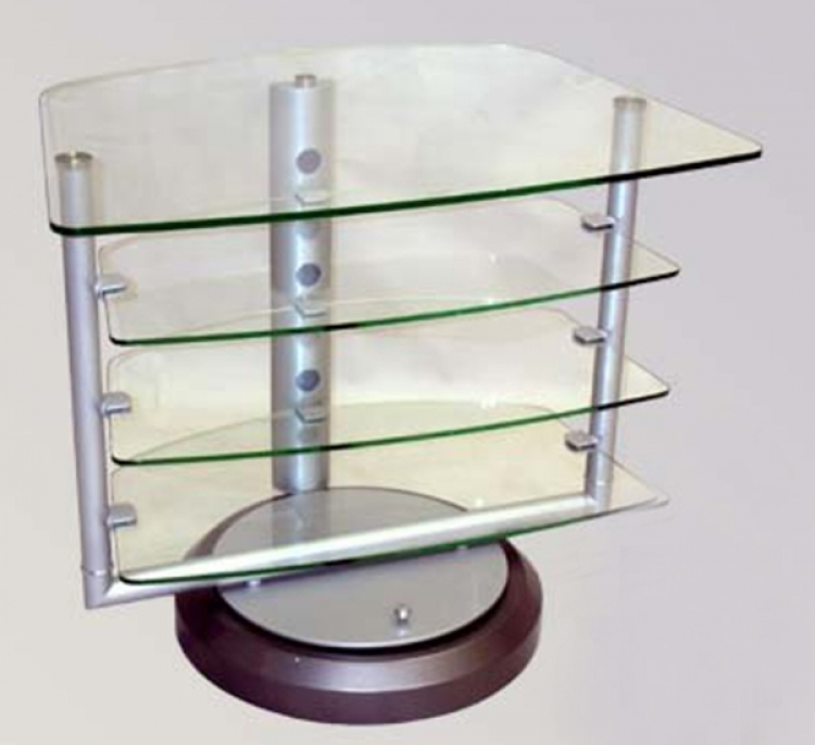 Swivel Glass TV Stand - Chintaly Imports