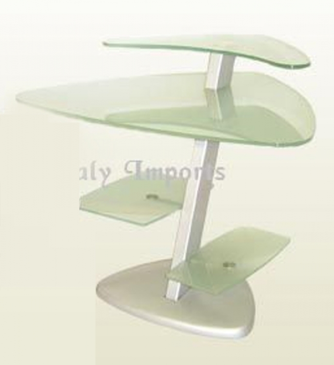 Frosted Glass Computer Desk - Chintaly Imports