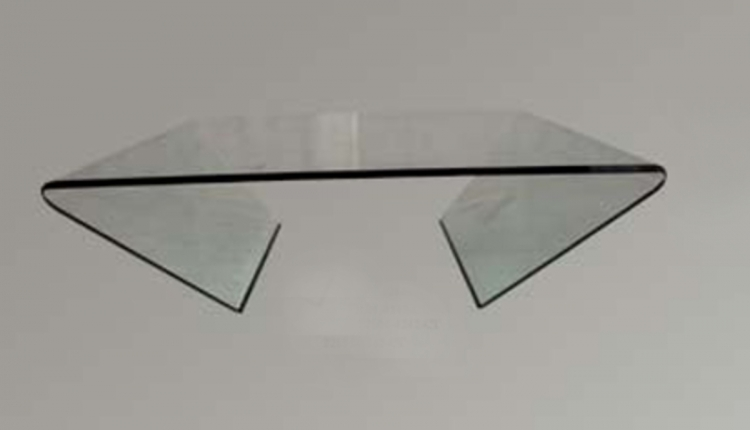 Bent Glass Square Cocktail Table