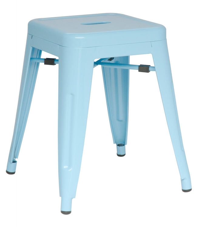 8018 Galvanized Steel Side Chair - Sky Blue