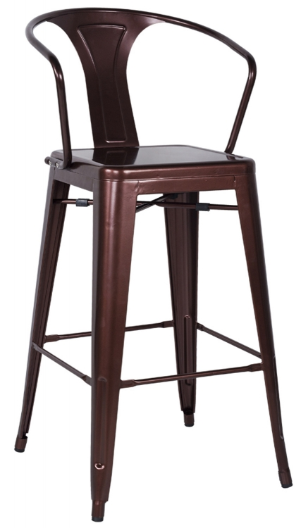 8020 Galvanized Steel Bar Stool - Red Copper