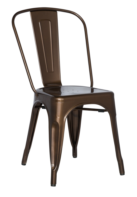 8022 Galvanized Steel Side Chair - Red Copper