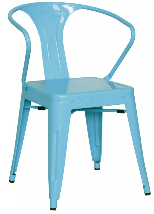 8023 Galvanized Steel Side Chair - Sky Blue