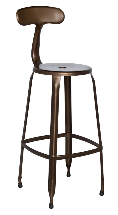 8035 Galvanized Steel Bar Stool - Red Copper