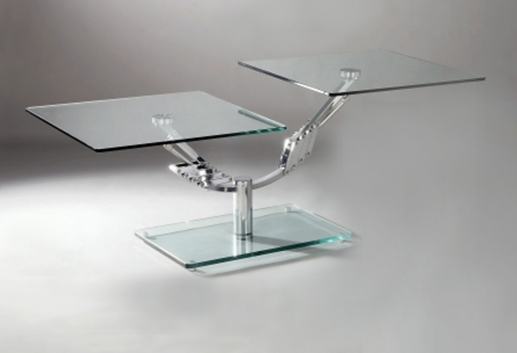 8124 Two Piece Motion Rectangular Cocktail Table - Chintaly Imports