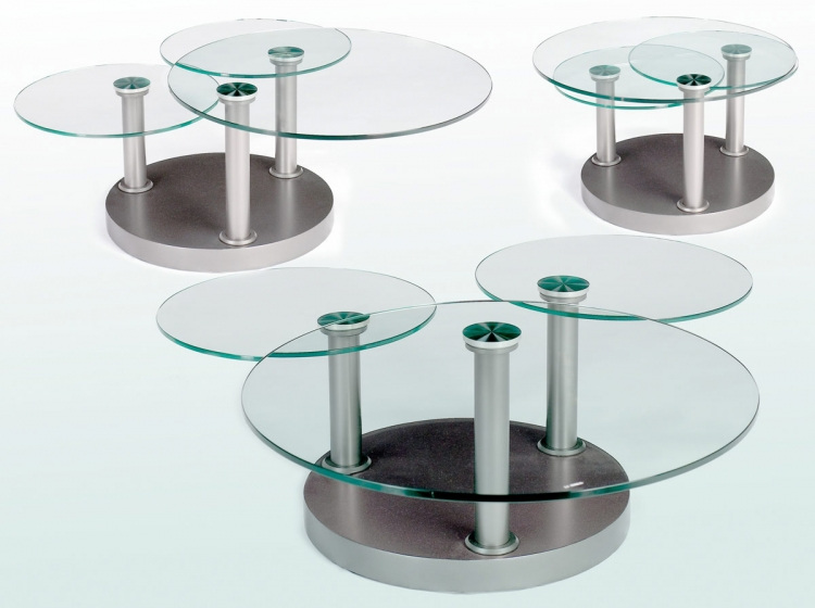 8147 Three Tier Motion Cocktail Table - Chintaly Imports