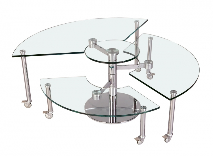 8160 Three Level Motion Cocktail Table - Chintaly Imports
