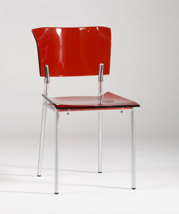 Acrylic Side Chair - Red