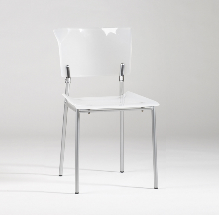 Acrylic Side Chair - White
