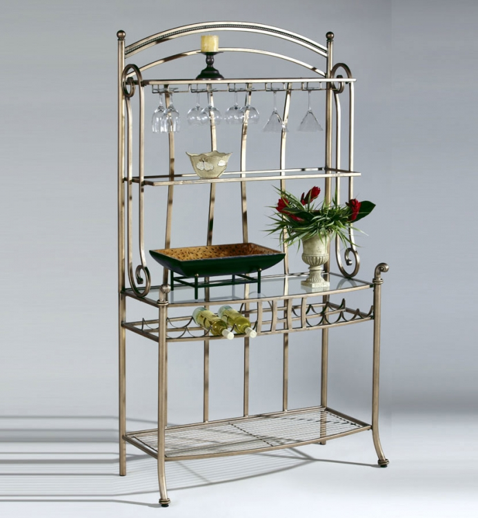Adriana Hand-Painted Bakers Rack