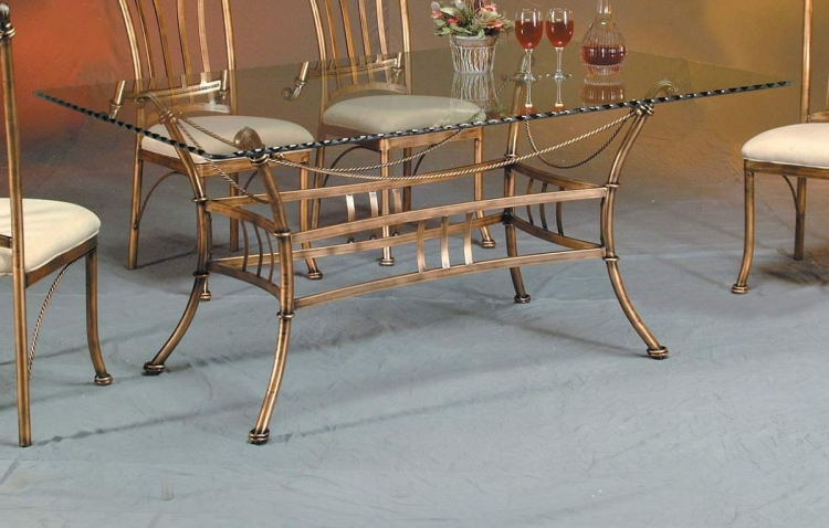 Adriana Rectangular Dining Table with Glass Top