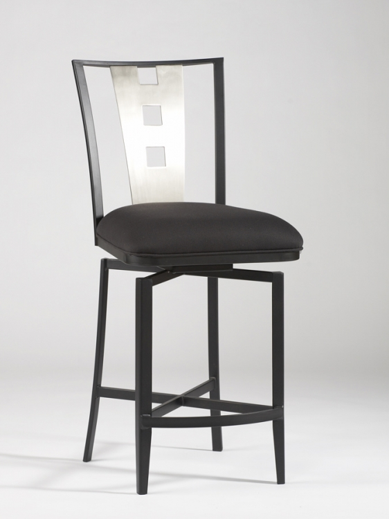Alexis Laser Cut Memory Return Swivel Bar Stool - Chintaly Imports