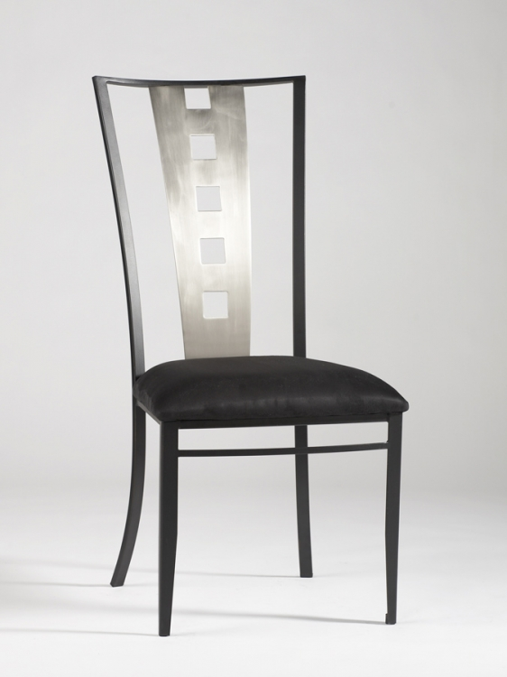 Alexis Laser Cut Back Side Chair - Chintaly Imports