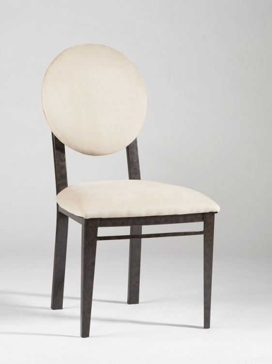 Amber Round Upholstered Back Side Chair