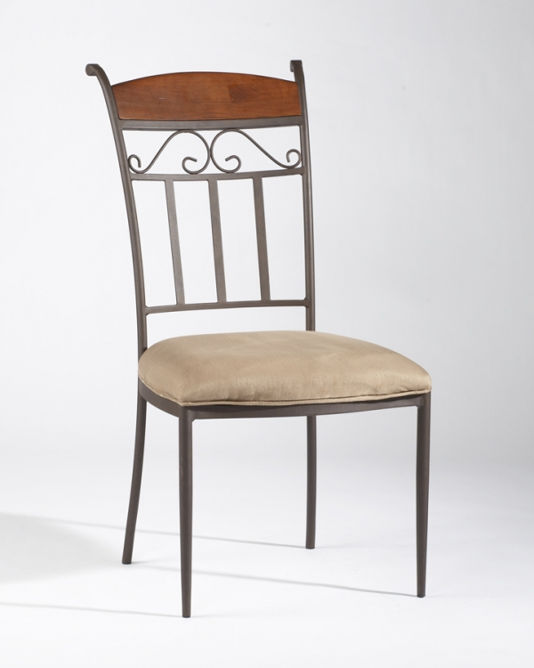 Amy Wrought Iron Side Chair