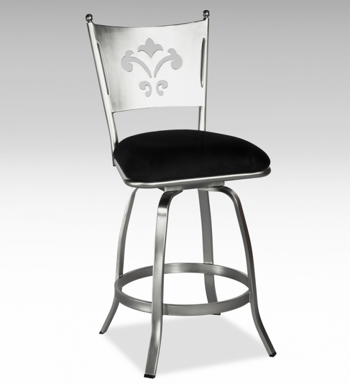 Andrea Fancy Back Swivel Bar Stool - Chintaly Imports