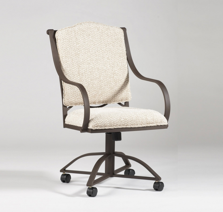Anita Caster Swivel Tilt Arm Chair