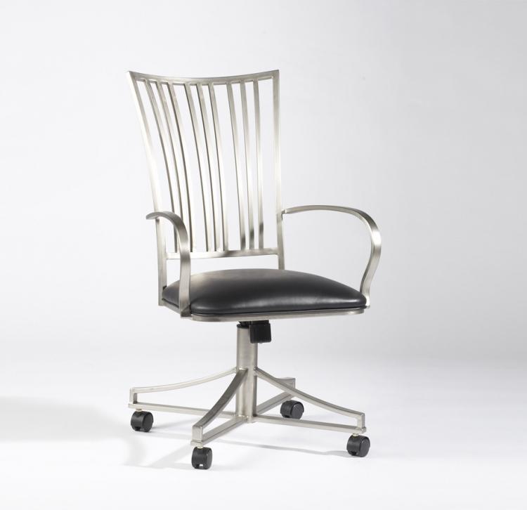 Ashtyn Fan Back Arm Chair Swivel Tilt