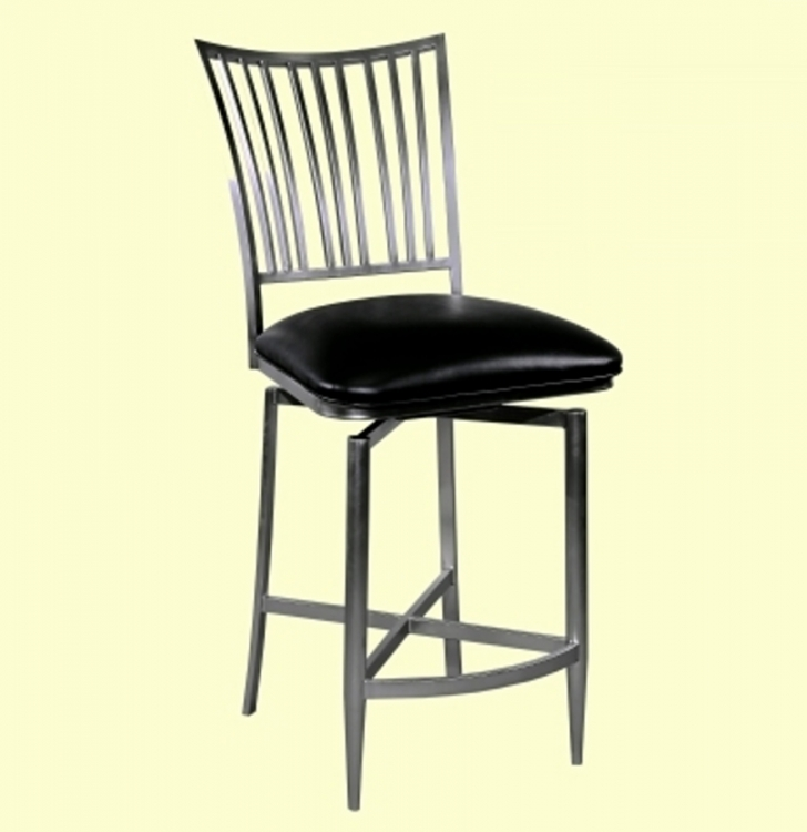 Ashtyn Fan Back Swivel Bar Stool - Chintaly Imports