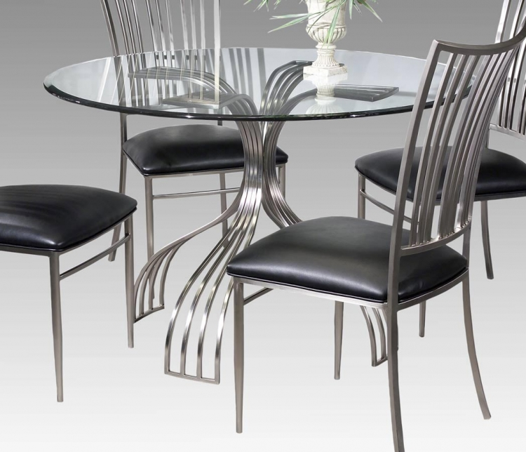 Ashley Round Table with Glass Top