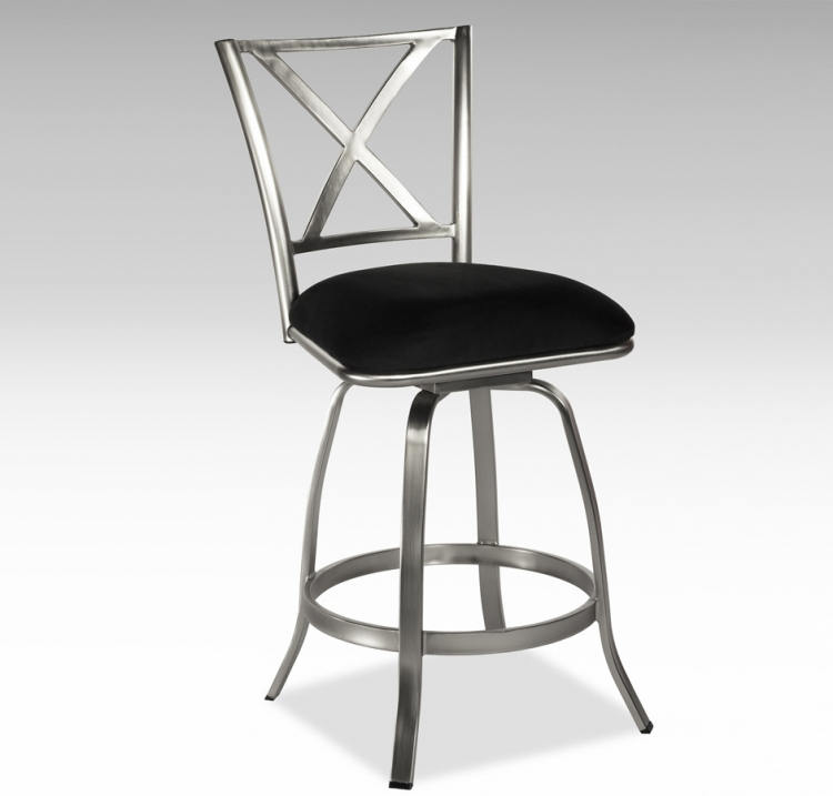 Audrey X Back Swivel Counter Stool - Chintaly Imports