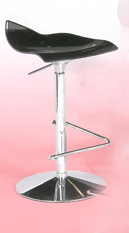 Bowery Adjustable Height Swivel Stool - Black - Chintaly Imports