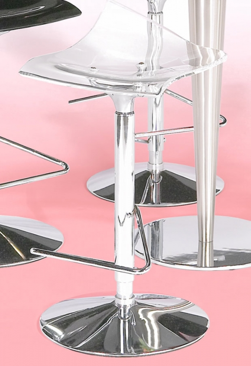 Bowery Adjustable Height Swivel Stool - Clear
