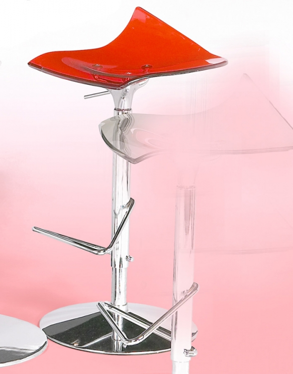 Bowery Adjustable Height Swivel Stool - Red