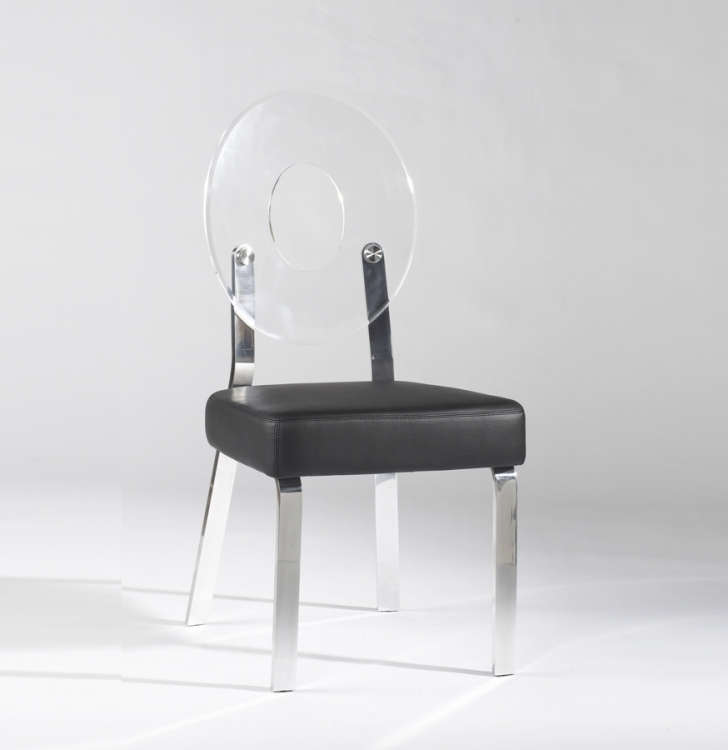 Candy Clear Round Back Acrylic Side Chair