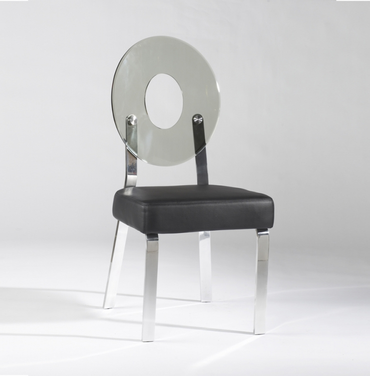 Candy Grey Round Back Acrylic Side Chair