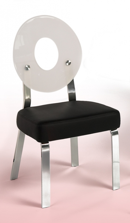 Candy White Round Back Acrylic Side Chair