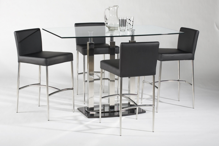 Cilla Rectangular Counter Height Dining Set - Chintaly Imports