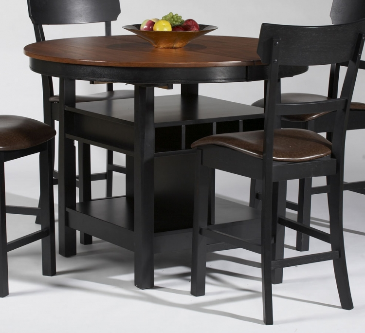 Cleo Storage Pedestal Counter Height Dining Table