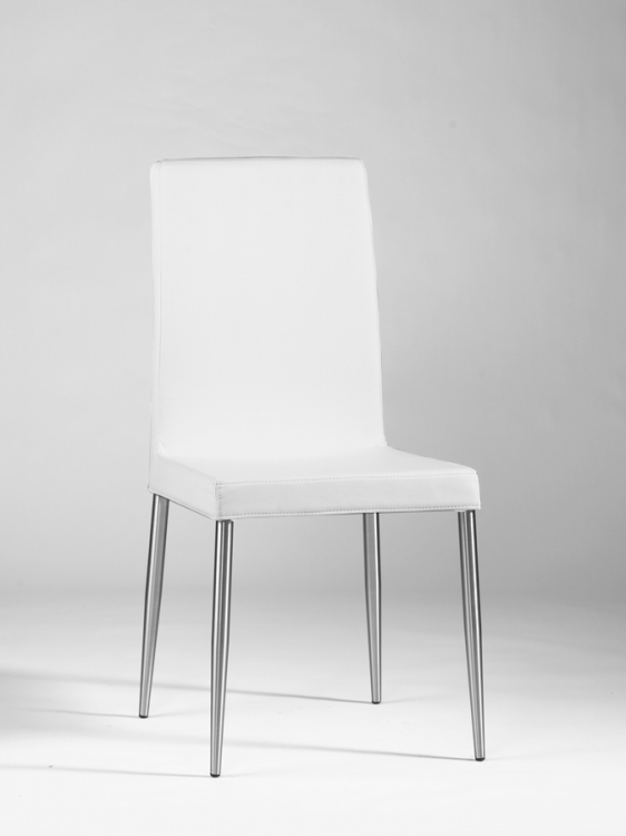 Dawn Upholstered Back Chair - White