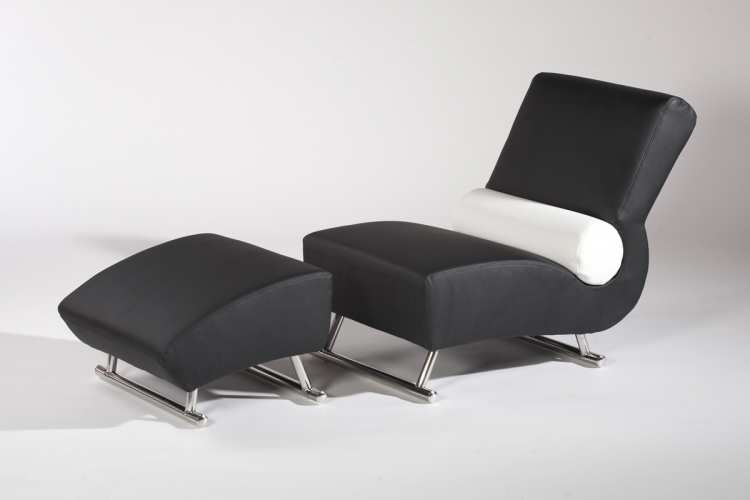 Deville Lounge Chair with Ottoman - Chintaly Imports