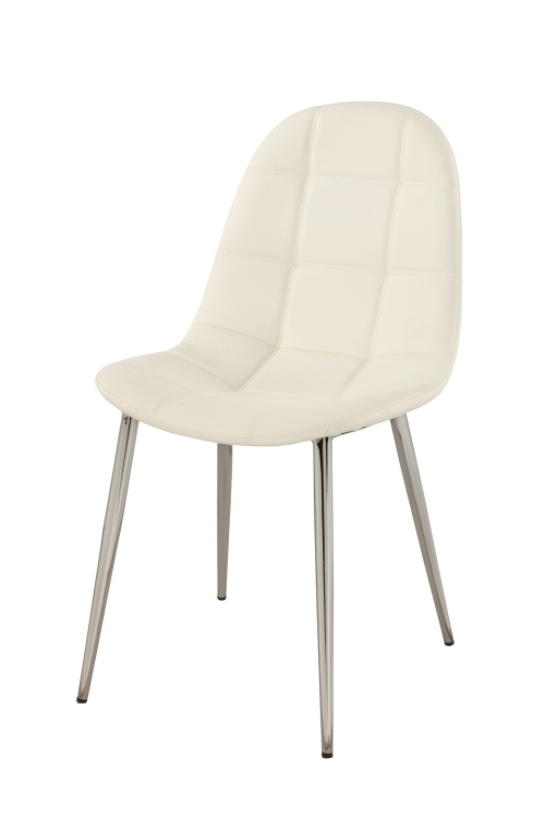 Donna Upholstered Back Side Chair - Chrome