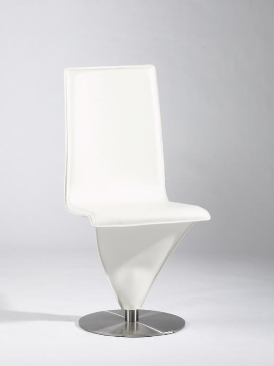 Eiffel White Swivel Contemporary Chair