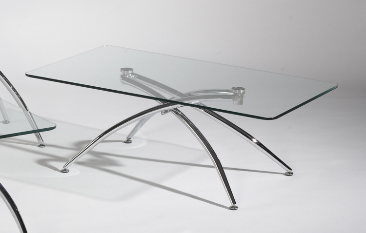 Elaine Double Arch Base Cocktail Table - Chintaly Imports