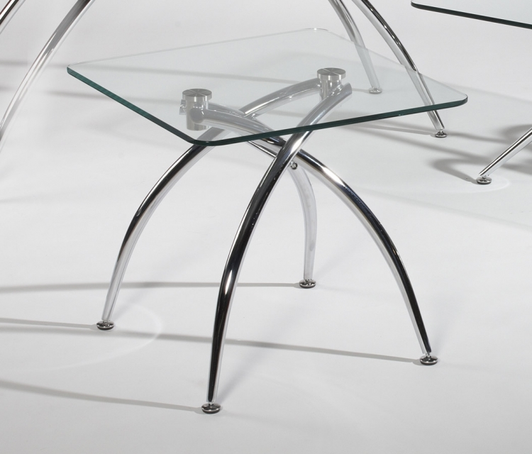 Elaine Double Arch Base Lamp Table - Chintaly Imports