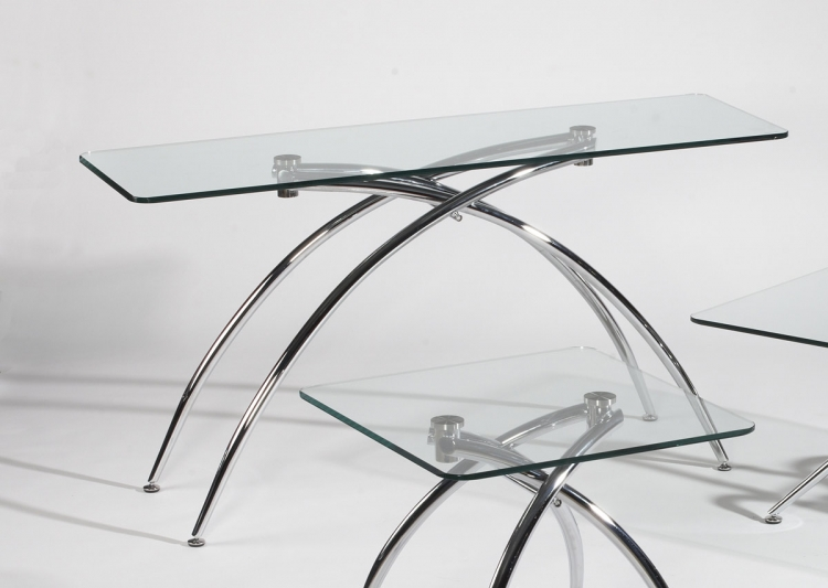 Elaine Double Arch Base Sofa Table - Chintaly Imports