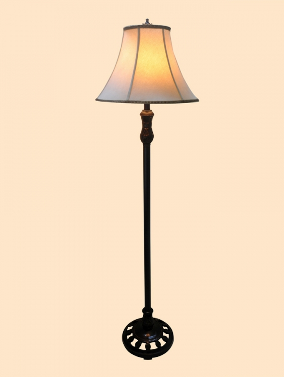 06044 Poly Base Floor Lamp - Chintaly Imports
