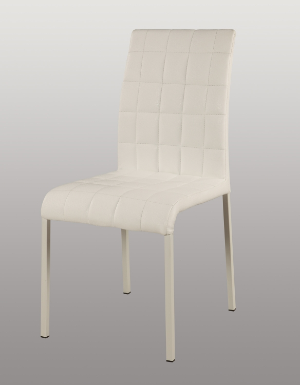 Fielding Upholstered Back Side Chair - Gloss White