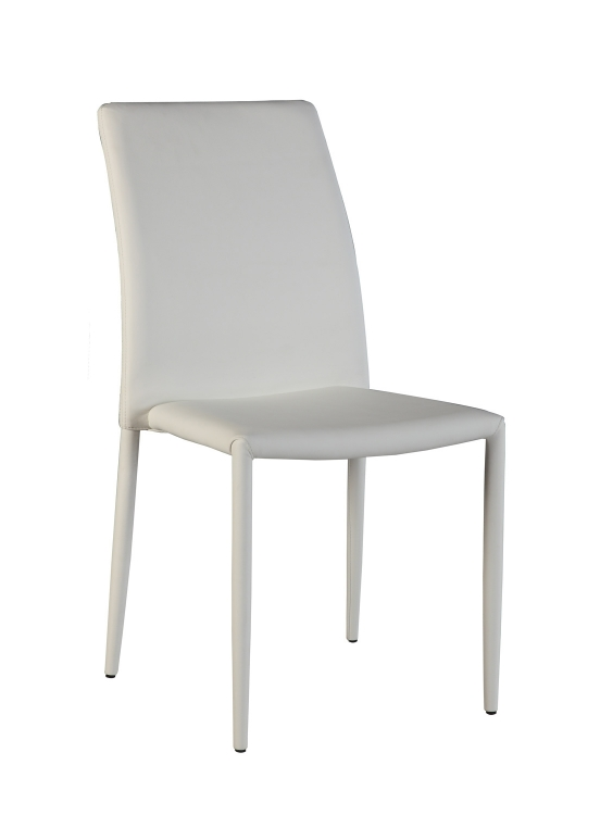 Flona Upholstered Back Side Chair - White