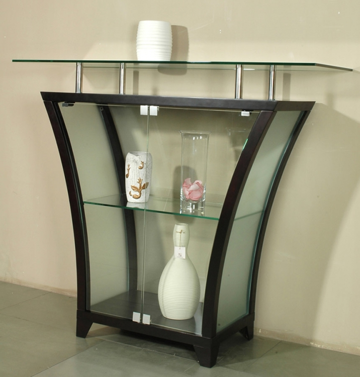 Flair Raised Glass Top Bar - Merlot